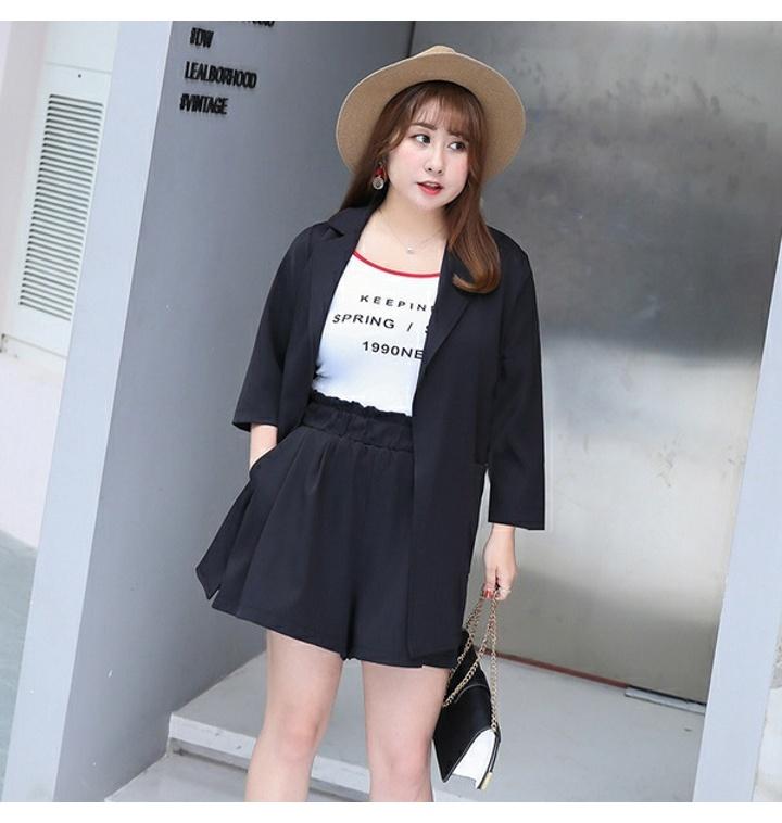 6bd6e24f769 2019년 봄신상 여성 빅사이즈 쉬폰 정장 투피스