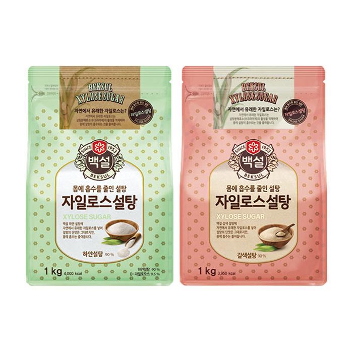하얀설탕 & 갈색설탕 1kg
