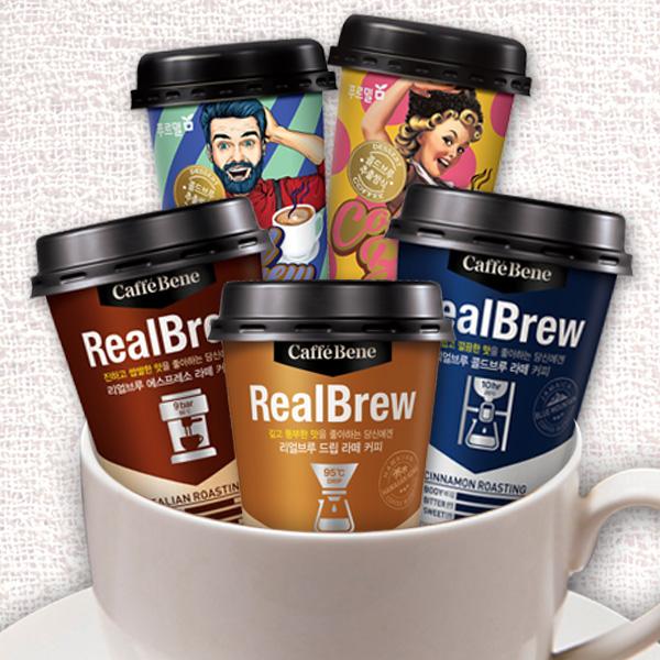 [커피모음] 컵커피 리얼브루 콜드브루 라떼 에스프레소라떼 10컵 모음